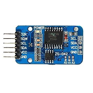 ARCELI Tiny DS3231 Módulo AT24C32 I2C Módulo de Reloj de precisión en Tiempo Real para Arduino: Amazon.es: Electrónica