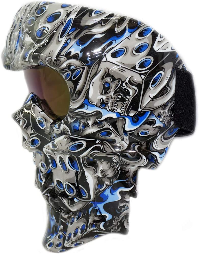 Vhccirt Skull Face Mask with Goggles Windproof Tactical Skeleton Ghost Spooky Mask for Airsoft//Paintball//Motorcycle//Motorbike//Motor Racing