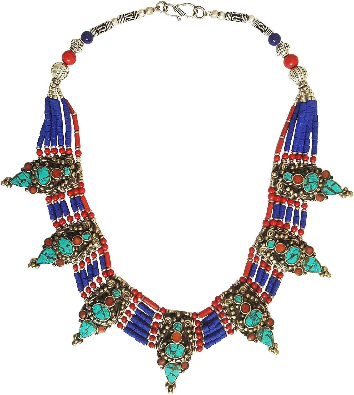 Old Afghanistan Ethnic Lapis Lazuli /& Turquoise Beaded Necklace
