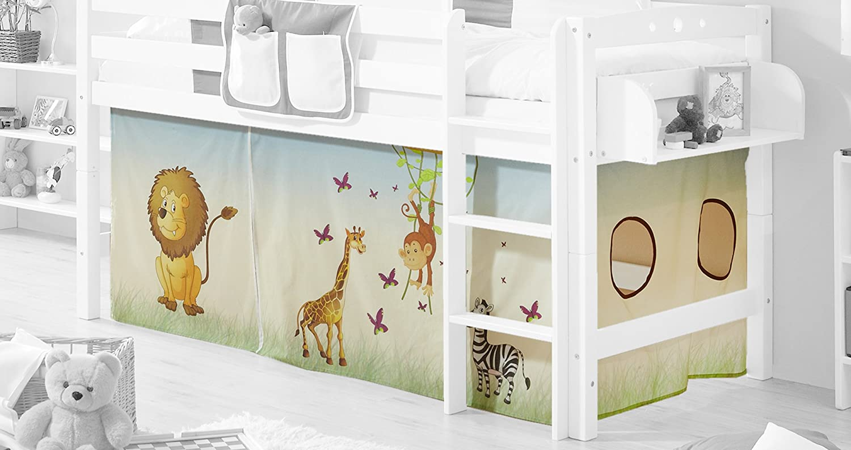Etagenbett Verschönern : Amazon.de: vorhangstoff für hoch und etagenbetten mit farbauswahl