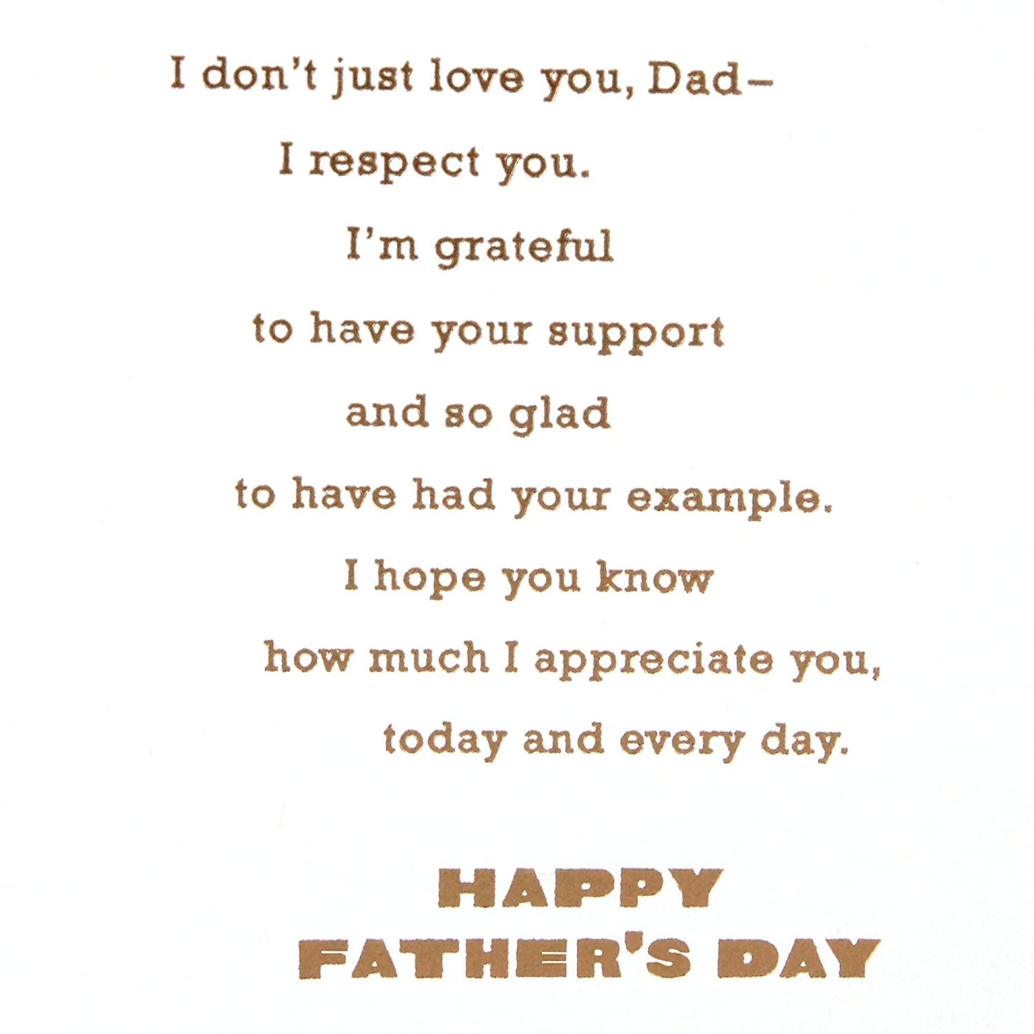 Hallmark Mahogany Father's Day Greeting Card for Daddy from Adult Child (I  Love and Respect You)