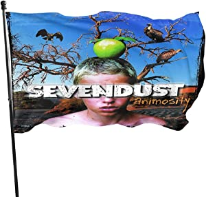 Sevendust Animosity Garden Flag Outdoor Flag Banner for Wedding Home Outdoor Decor Festival Celebration Decor Flags 3X5 Ft