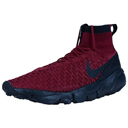 Nike Men s Air Footscape Magista Flyknit FC Team Red Black Team Red Indoor  Soccer Shoe d10048f4b1539