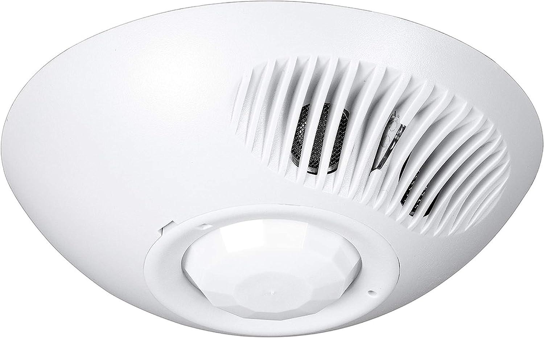 HUBBELL LIGHTING OMNIDT1000 Ultrasonic and PIR Ceiling Sensor, 1000-Square Foot range, White