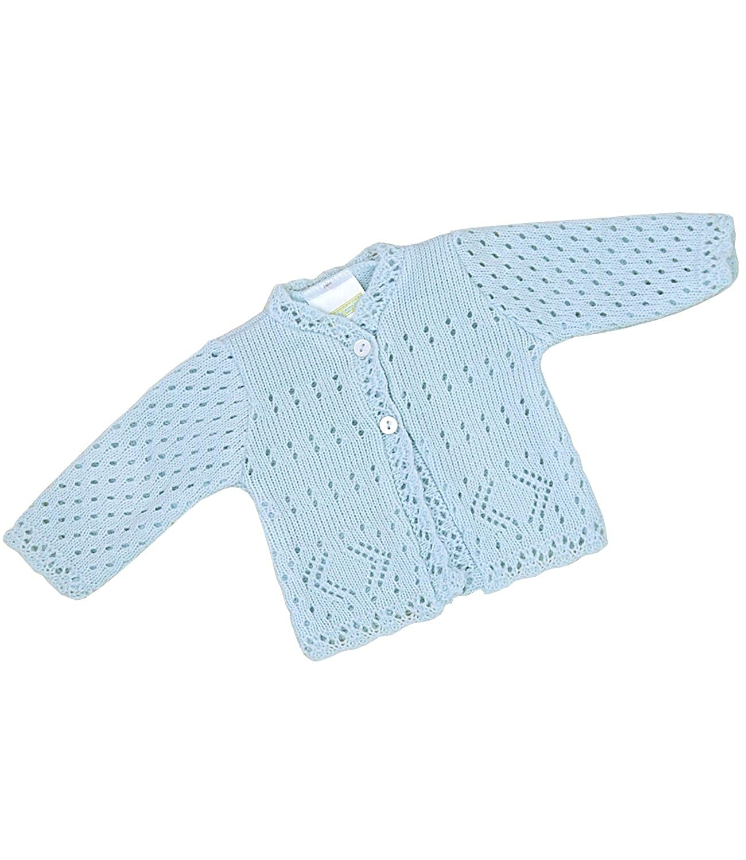 BabyPrem Fr/ühchen Strickjacke Jungen M/ädchen Rosa Blau 38-50cm