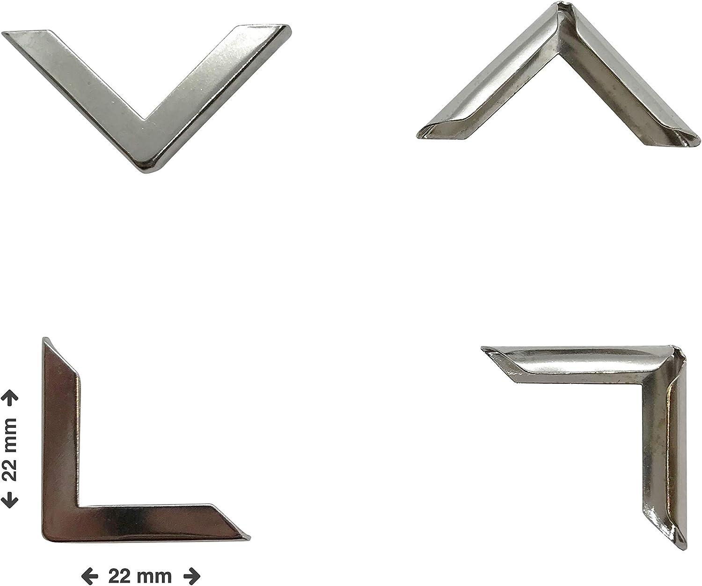 Proteggi angoli per libri 22 x 22 x 3,5 mm Silver color argento