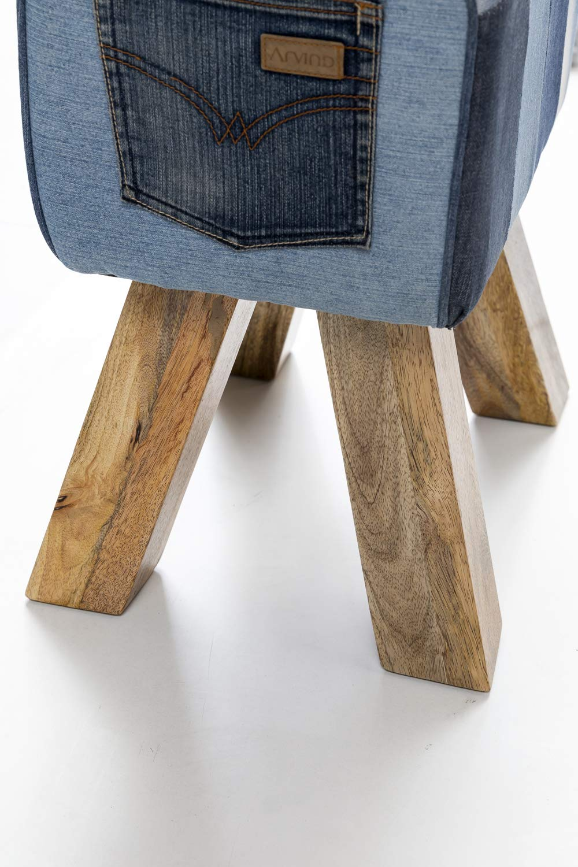 Wohnling Diseño Turn Caballete Asiento Taburete Denim, Azul ...