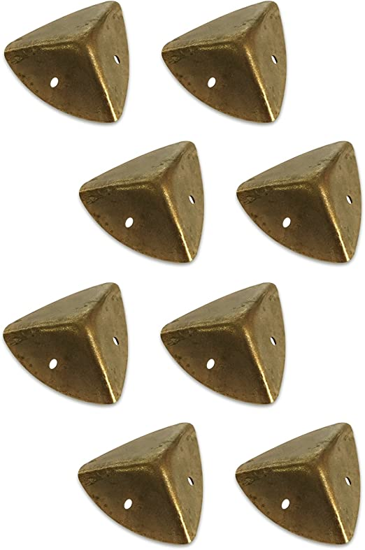 4pcs Brass Corner Angle Brace Protectors for Wooden Trunk Box Chest Case Gold