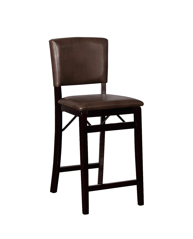 Incredible Amazon Com Linon Monaco Sable Folding Counter Stool Machost Co Dining Chair Design Ideas Machostcouk