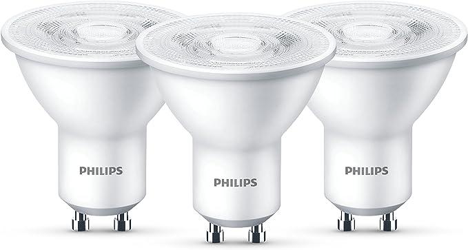 Philips Lighting Bombillas LED GU10, 4.7 W, Gris, Pack de 3 de 4,7 W, 3 Unidades: Amazon.es: Iluminación