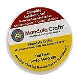 Mandala Crafts Round Cowhide Genuine Leather String