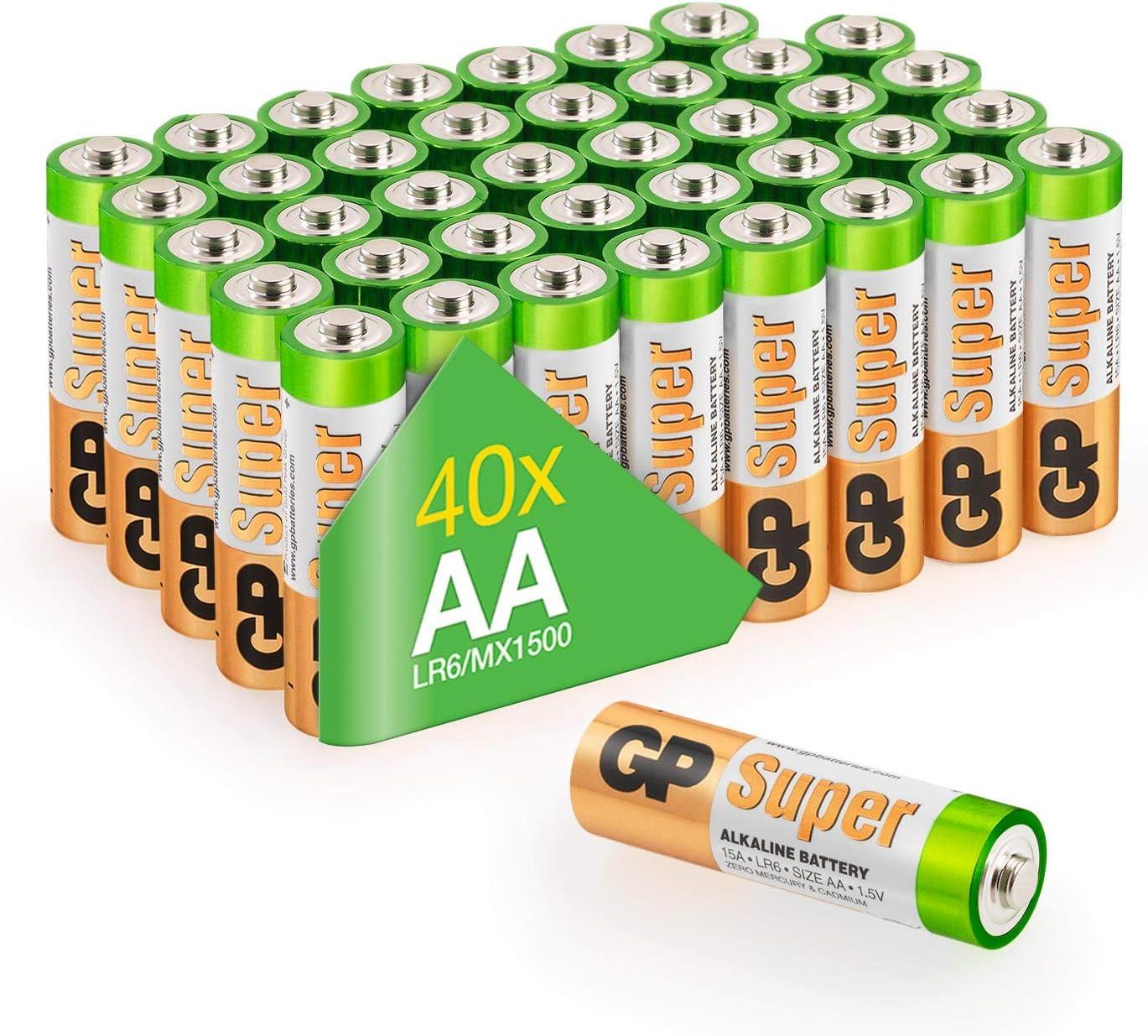 Gp Batterien Aa 1 5v Super Alkaline Longlife Elektronik