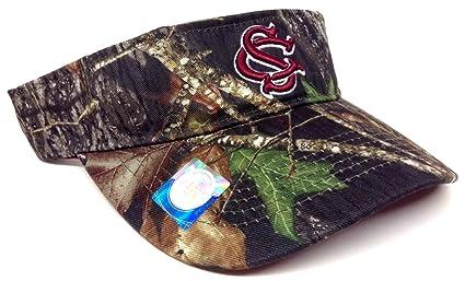 Amazon.com   South Carolina Gamecocks Mossy Oak Camo Visor   Sports ... 51162bb7e78