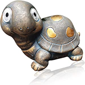 Solar Animal Lights, Simulation Turtle Statue,Outdoor Solar Powered LED Light for Patio Garden Yard Lawn Decor and Outdoor Ornament