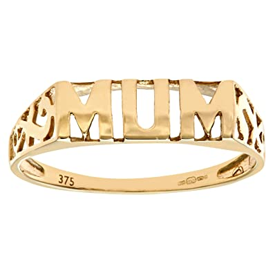 Citerna Women's 9 ct Yellow Gold Mum Ring uIaUXmPzu8