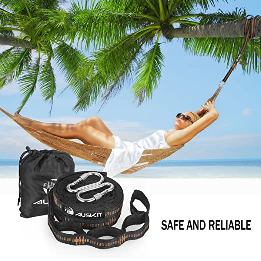 xl hammock straps auskit hammock tree straps set of heavy duty 40 loops tree straps hammock accessories with 2 carabiners for camping backpacking     xl hammock straps auskit hammock tree straps set of heavy duty 40      rh   amazon co uk