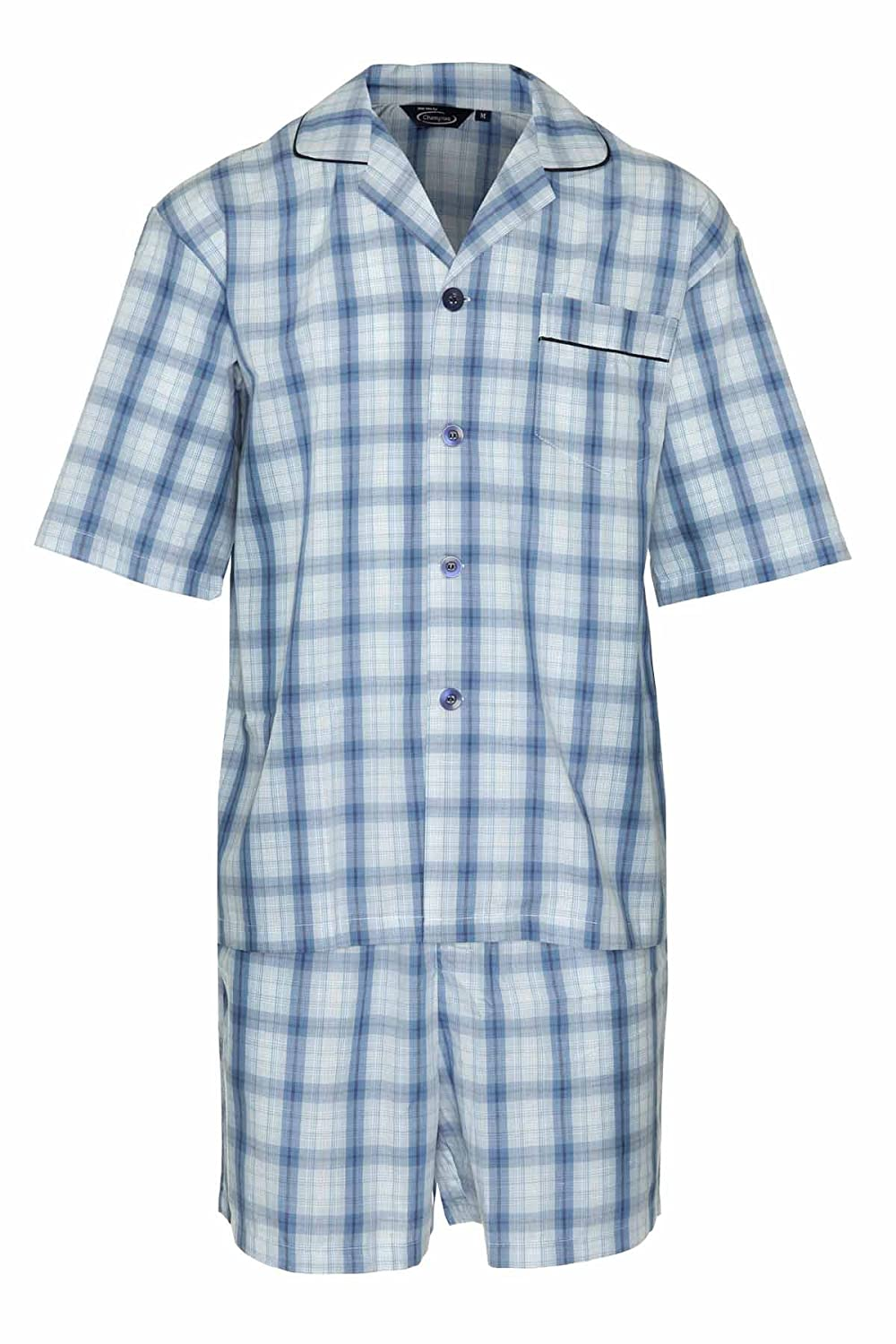 Champion Mens Summer Cotton Short Pyjamas Sleepwear Nightwear 3156