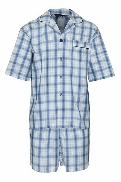 Champion Cómodo Shorts con Camisa para hombre pijama Pjs - colores + tamaños, Azul, Small: Amazon.es: Ropa y accesorios