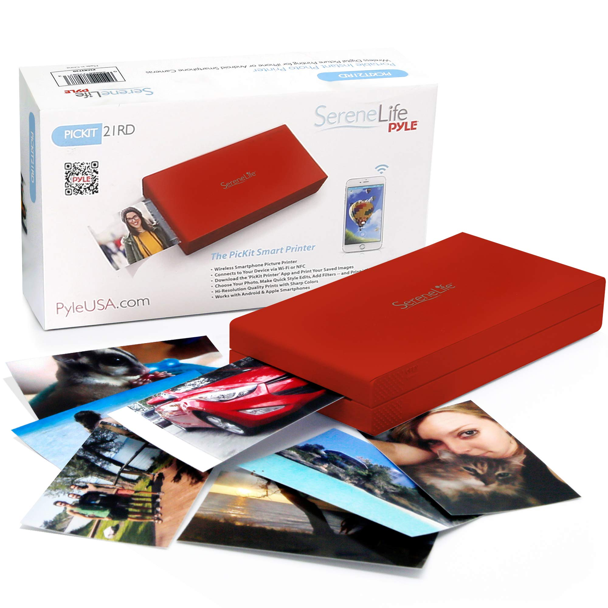 SereneLife PICKIT21RD.5 Mobile Printer, Red by SereneLife