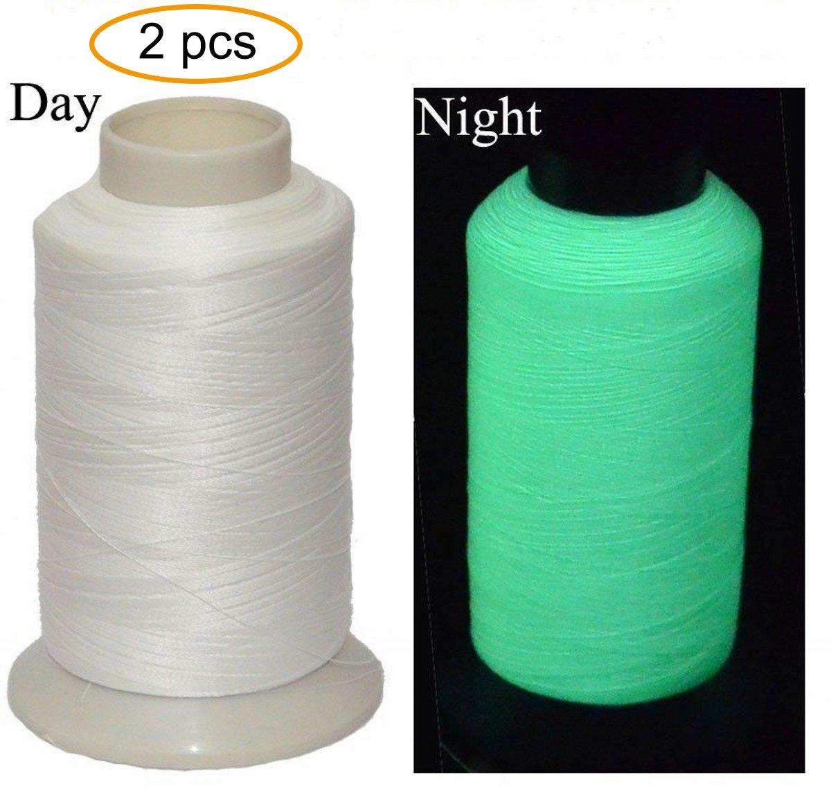 Bettli 3300Yards Glow In The Dark Embroidery Thread (White) Bokesi B-GIDTW1