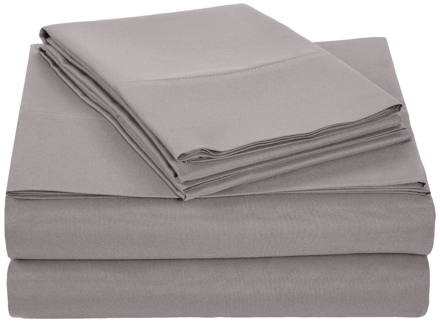 Alurri Bed Sheet Set Wrinkle Fade and Stain Resistant by 2 Pillowcases King, Grey Fitted Sheet Hypoallergenic Hotel Luxury Quality Microfiber Flat Sheet - 4 Piece Bedding Set