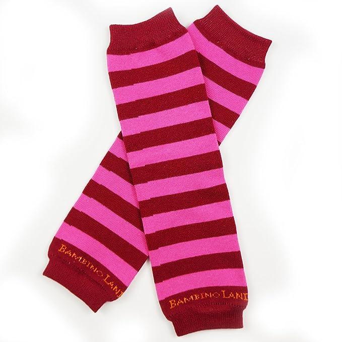 Bambino Land Leg Warmers Stripes Gray /& White