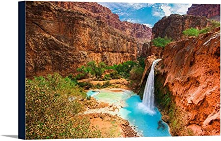 Amazon Com Grand Canyon National Park Arizona Havasu Falls Havasupai Indian Reservation 9002117 24x16 Gallery Wrapped Stretched Canvas Posters Prints