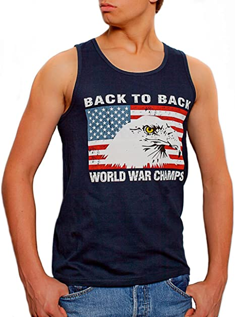 Junior Undefeated World War Champ Belt USA America Sleeveless DT Tank Tops