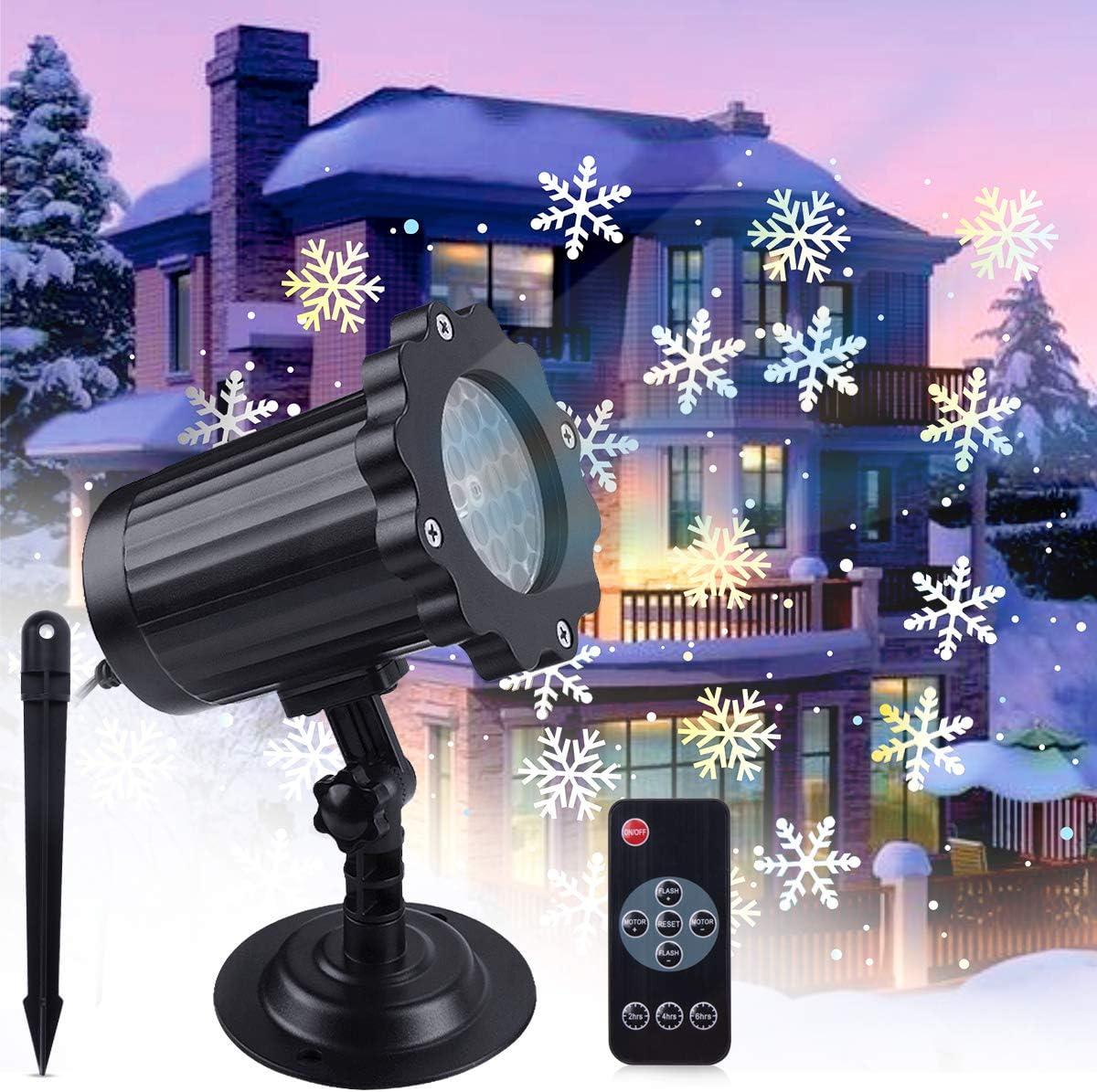 luces de proyector navidad,VIFLYKOO luz de proyección de nieve ...
