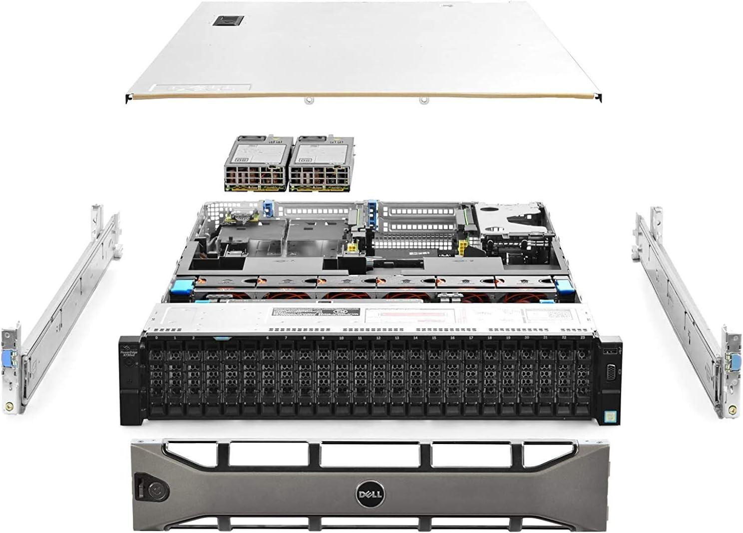 Dell PowerEdge R730xd Server 24B SFF, 2x Intel Xeon E5-2690 v4 2.6Ghz (28-cores Total), 256GB DDR4 RAM, 10x 1.8TB 10K SAS 12Gb/s, H730P 2GB RAID, 2x 10Gb + 2x 1Gb, Rails, Windows Server 2019 (Renewed)