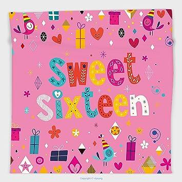 Vipsung Mikrofaser Ultra Soft Hand Towel 18th Geburtstag Dekoration  Digitaldruck Auf 18 Jahre Happy Birthday