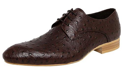 SERDAOUMANI Mocasines de hombre Cuero bovino Cabeza puntiagudo Piedra raya Boda o trabajar: Amazon.es: Zapatos y complementos
