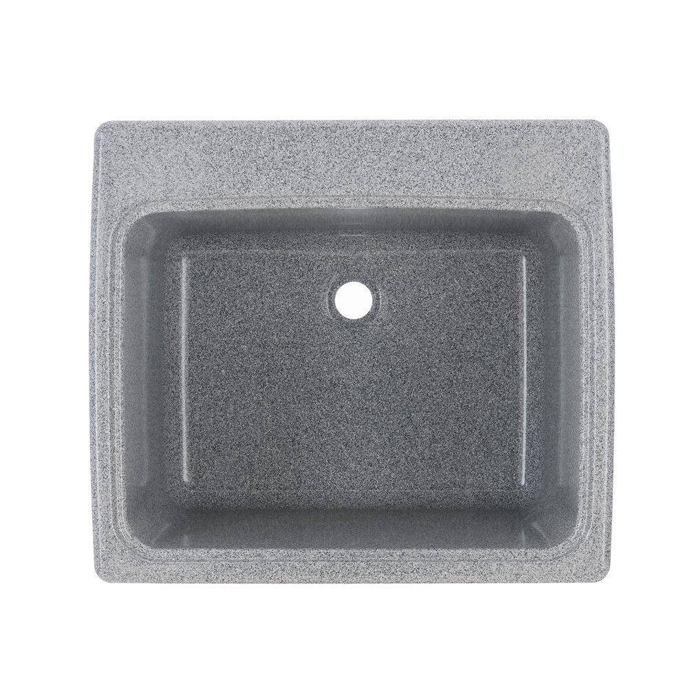 Swan Granite Kitchen Sink Swan Ssus1000042 Gray Granite Solid Surface Utility Sink