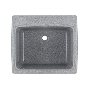 """Swan SSUS1000.042 Dual Mount Solid Surface Utility Sink - Gray Granite 22"""" L x 25"""" H x 13.5625"""" H"""