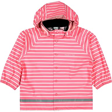 4930ffef6b70 Amazon.com  Polarn O. Pyret Classic Stripe RAIN Jacket (Baby)  Clothing