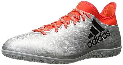 3396deac8 adidas Men's x 16.3 in Soccer Shoe, Silver Metallic/Black/Infrared, 10