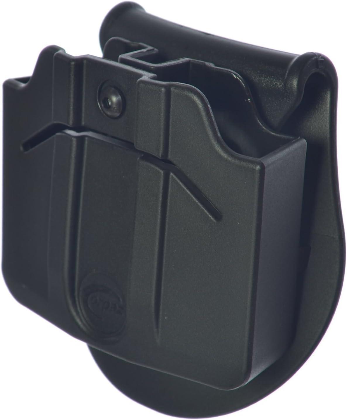 orpaz defensa táctica ajustable 360rotación, retención doble revista bolsa paddle Holster para Glock 17–19–22–23–31–32–34–35–26–25