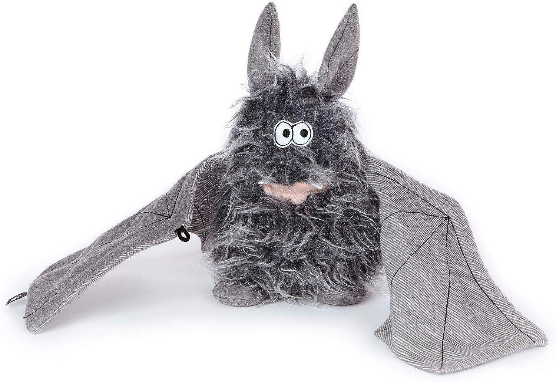 Battery Bat Beaststown Chauve-Souris sigikid Gris//Noir 39152 Peluche pour les Adultes /& les Enfants