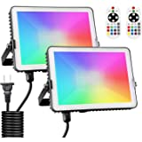 Albrillo 30W RGB LED Flood Light, Color Changing Floodlight 300W Equivalent, 11 Colors 4 Modes, IP66 Waterproof…