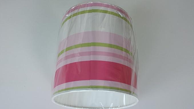 20,32 cm/20 cm Paige de rayas verde, rosa y blanco para ...