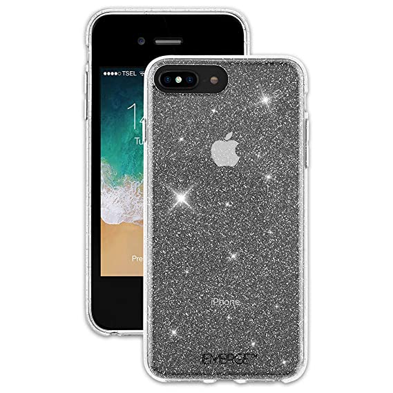 half off 8c2e2 1c05c EMERGE SHIMMER iPhone 8 / iPhone 7 Plus Glitter Cell Phone Case - Sparkle  Effect Clear