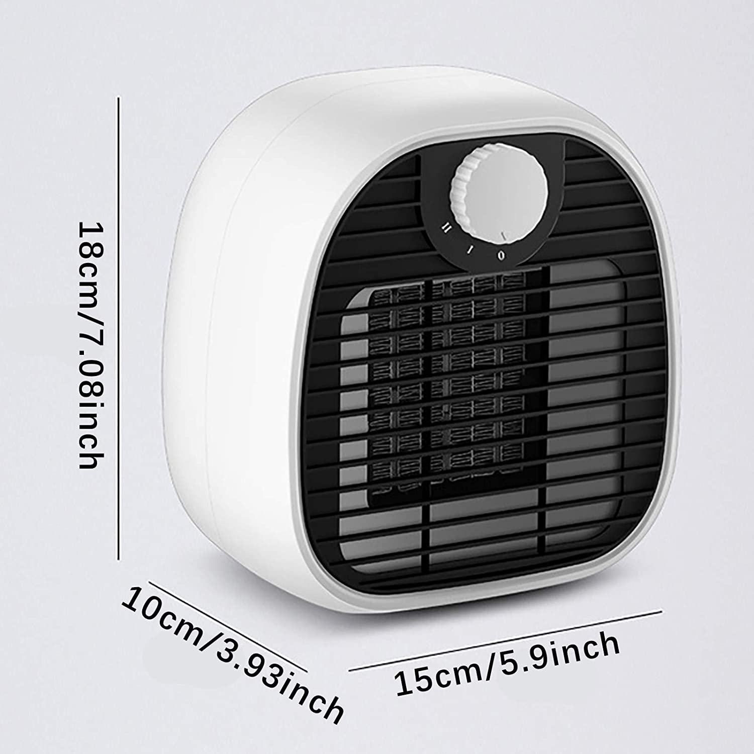 757 Portable Fan Heater, Personal Heaters for Home Low Energy Quiet and Safety High-efficiency Fast Heating K
