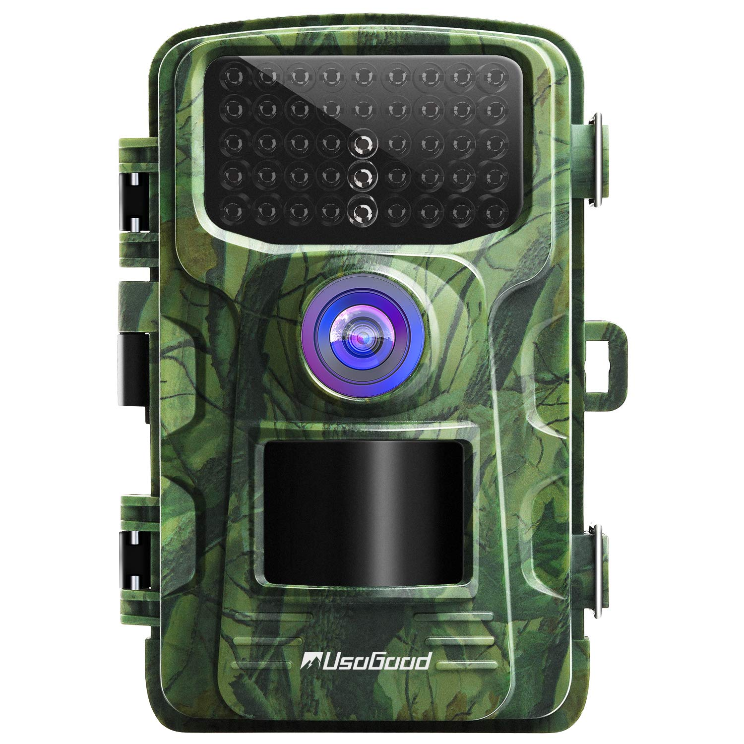 usogood Trail Camera 14MP 1080P No Glow Game Hunting Camera with Night Vision Motion Activated IP66 Waterproof 2.4'' LCD for Outdoor Wildlife, Garden, Animal Scouting and Home Security Surveillance by usogood