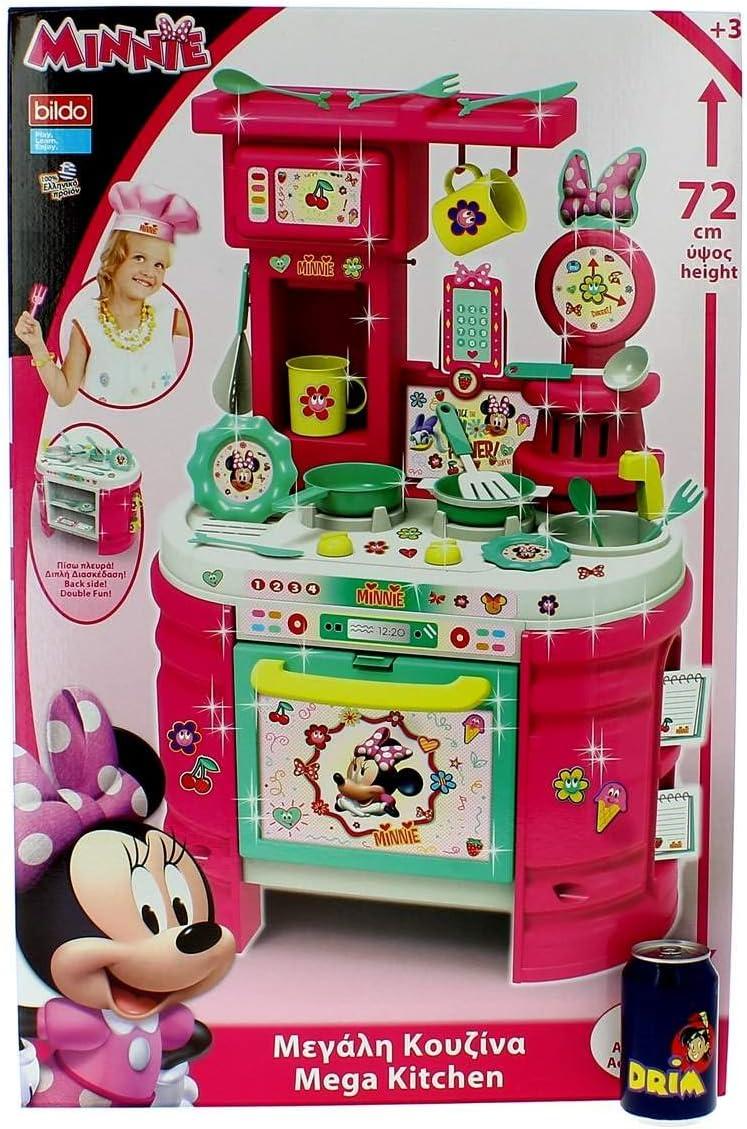 Cocina Minnie 72cm. c / 15 accesorios: Amazon.es: Juguetes y juegos