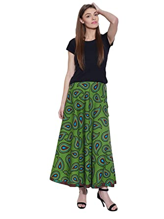 Long Boho Floral Maxi Skirt, Indian Printed Cotton Skirts for ...