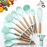 Kitchen Utensil Set - 16 Silicone Cooking Utensils. Kitchen Gadgets for Cookware Kit. Kitchen Accessories Tools. Heat-resista