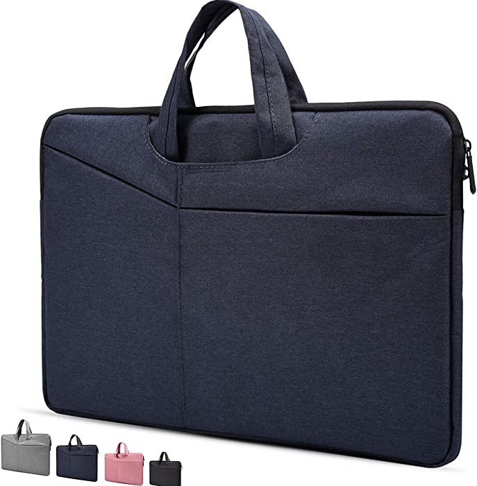 "14-15 Inch Water Resistant Laptop Sleeve Case for HP 2019 14"" Laptop,Acer Chromebook 14,HP Stream 14"",Lenovo Thinkpad,ASUS VivoBook,14"" Lenovo LG Samsung Dell Toshiba HP ASUS Acer Laptop Bag,Navy Blue"