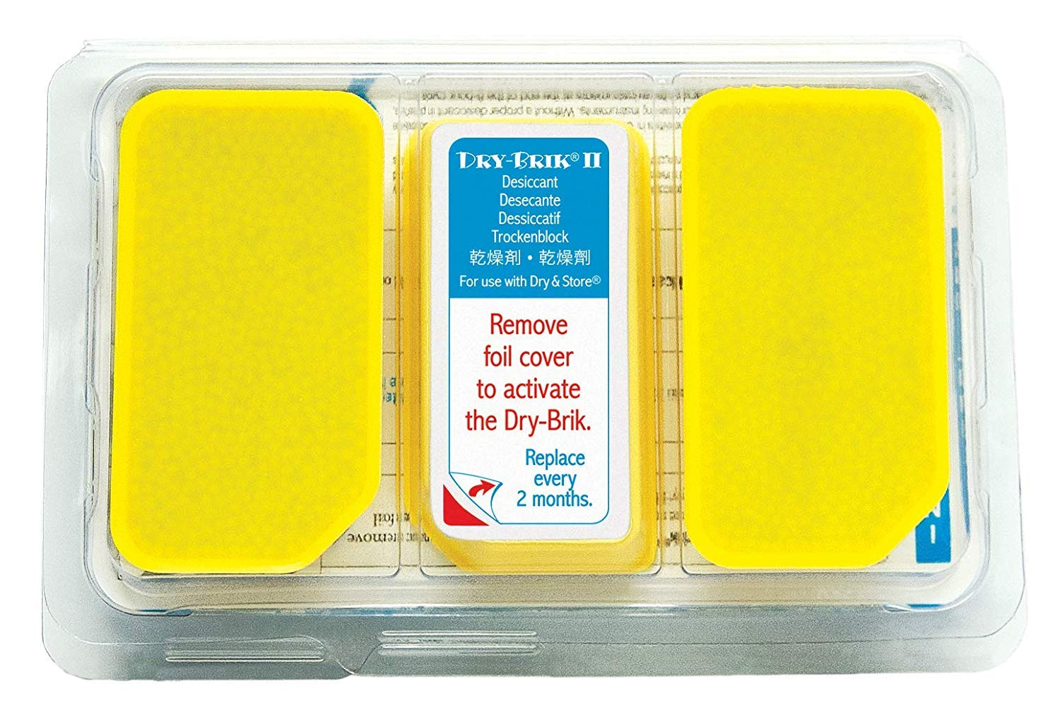 Dry-Brik II Desiccant Blocks - 6 Blocks (2 Packs of 3 Blocks)| Replacement Moisture Absorbing Block for the Global II and Zephyr by Dry & Store | Hearing Device Dehumidifiers (Limited Edition)