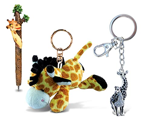 Amazon.com: Puzzled Jirafa Planet Pen, peluche llavero y ...