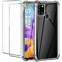 Leathlux Funda Compatible con Samsung Galaxy A21s, 2 Pack Cristal Templado Protector de Pantalla, Ultra Fina Silicona…